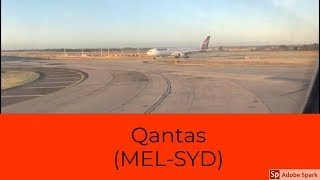 Qantas airways||Flight review||MEL-SYD||QF408||A330-200||economy class experience