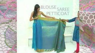 How to drape an Indian saree ...www.SakhiFashions.com