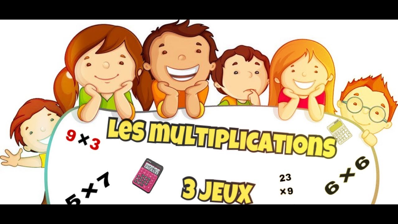 Les multiplications 3 jeux youtube for Les multiplications