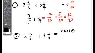 addition of mixed fraction 1