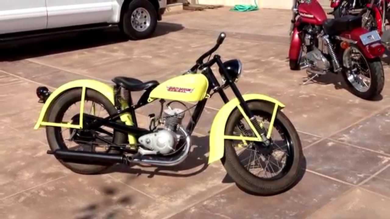 1956 Harley Davidson Running