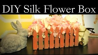 Diy Silk Flower Box - Easy Diy Room Decor