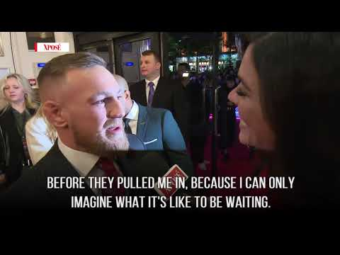 Conor McGregor thanks his fans at his Dublin premiere
