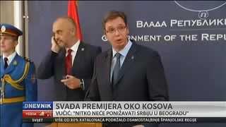 Dnevnik Nove tv: Povijesni susret obilježio incident  - Aleksandar Vučić i Edi Rama