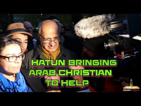 "Speakers Corner: [ 22/10/17 ] Hatun using an ""Arab Christian"" to prove her point BUT FAILED AGAIN!!!"