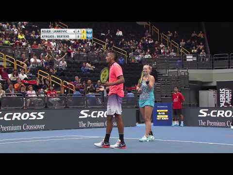 IPTL 2016: Japan Warriors vs Singapore Slammers - Point of the Match (Mixed Doubles)
