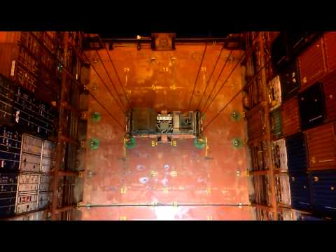 Removing hatch covers from container ships