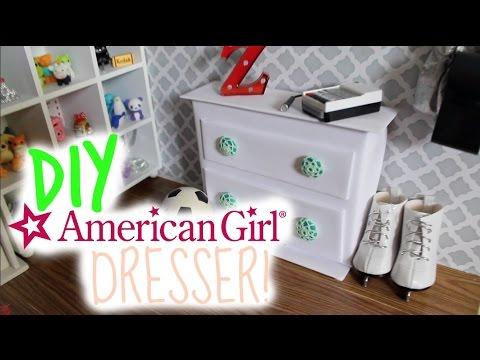 Elegant DIY American Girl Doll Dresser