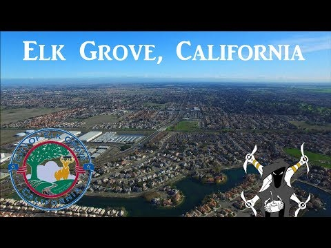 Elk Grove California - Town Hall Center - Top drone shots