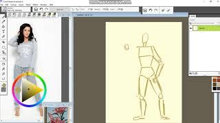 Как нарисовать девушку в Corel painter Essentials 6. Урок 1