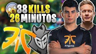 El PARTIDO con MÁS BAJAS por MINUTO!!   G2 vs FNC   LEC Resumen y Highlights