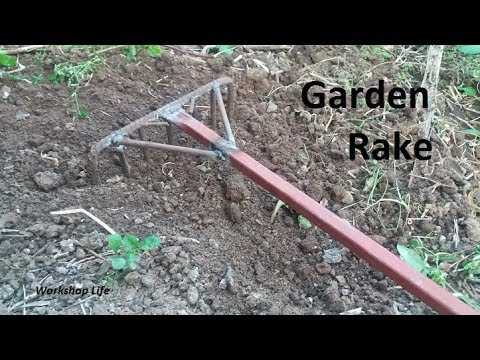 Making a garden rake out of old junk, Workshop Projects.