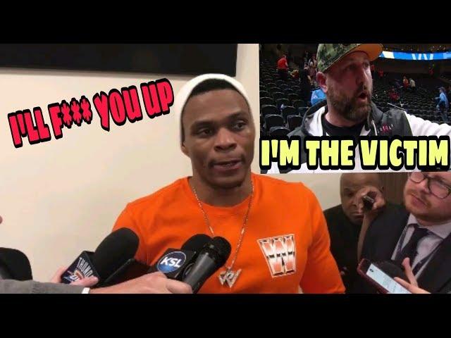 Fan responds after getting cursed out and threatened by Russel Westbrook (VIDEO)