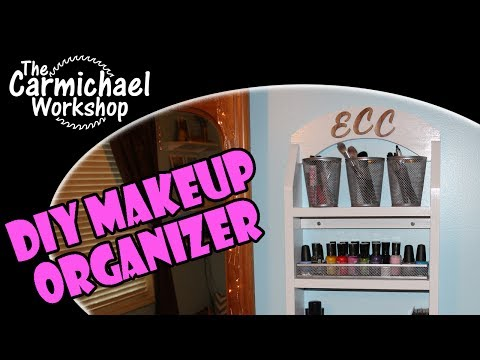 How to Make a Simple DIY Makeup Organizer