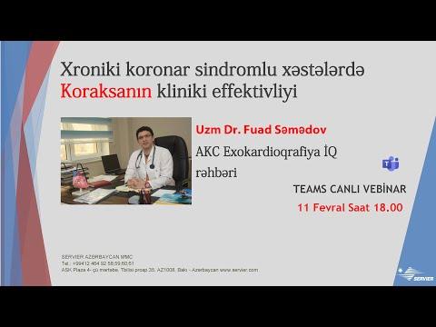 Xroniki koronar sindromlu xəstələrdə Koraksanın kliniki effektivliyi
