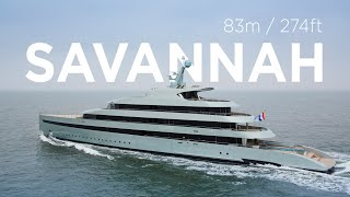 The Feadship Savannah on her sea trials