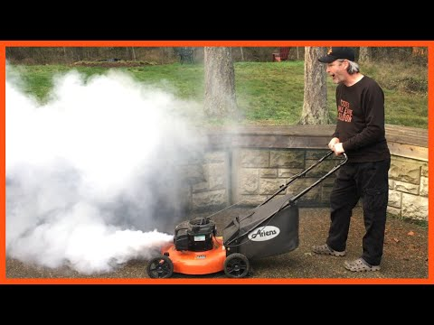 How To Fix A Smoking Lawn Mower - Video