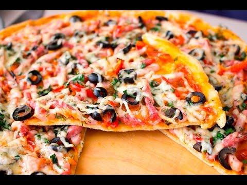 Как сделать тесто для пиццы бездрожжевое