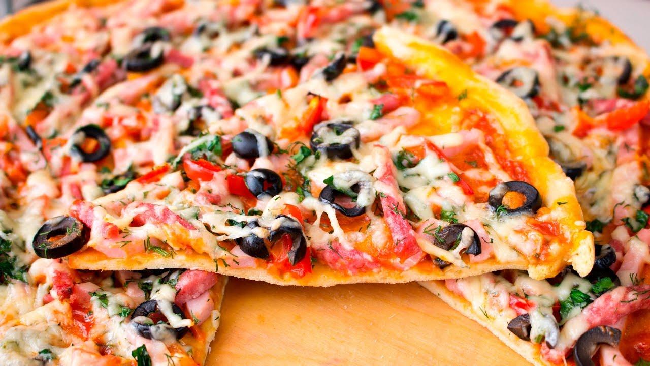 Тонкое бездрожжевое тесто для пиццы рецепт