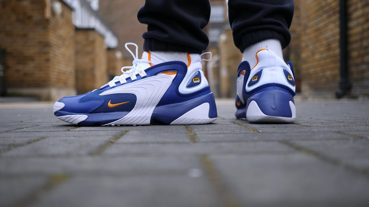 new style 21604 ca5ba Nike Zoom 2K Quick Look   On Feet (Royal Blue White Orange)