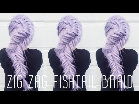 How To Fishtail Braid:Zig Zag Fishtail Braid