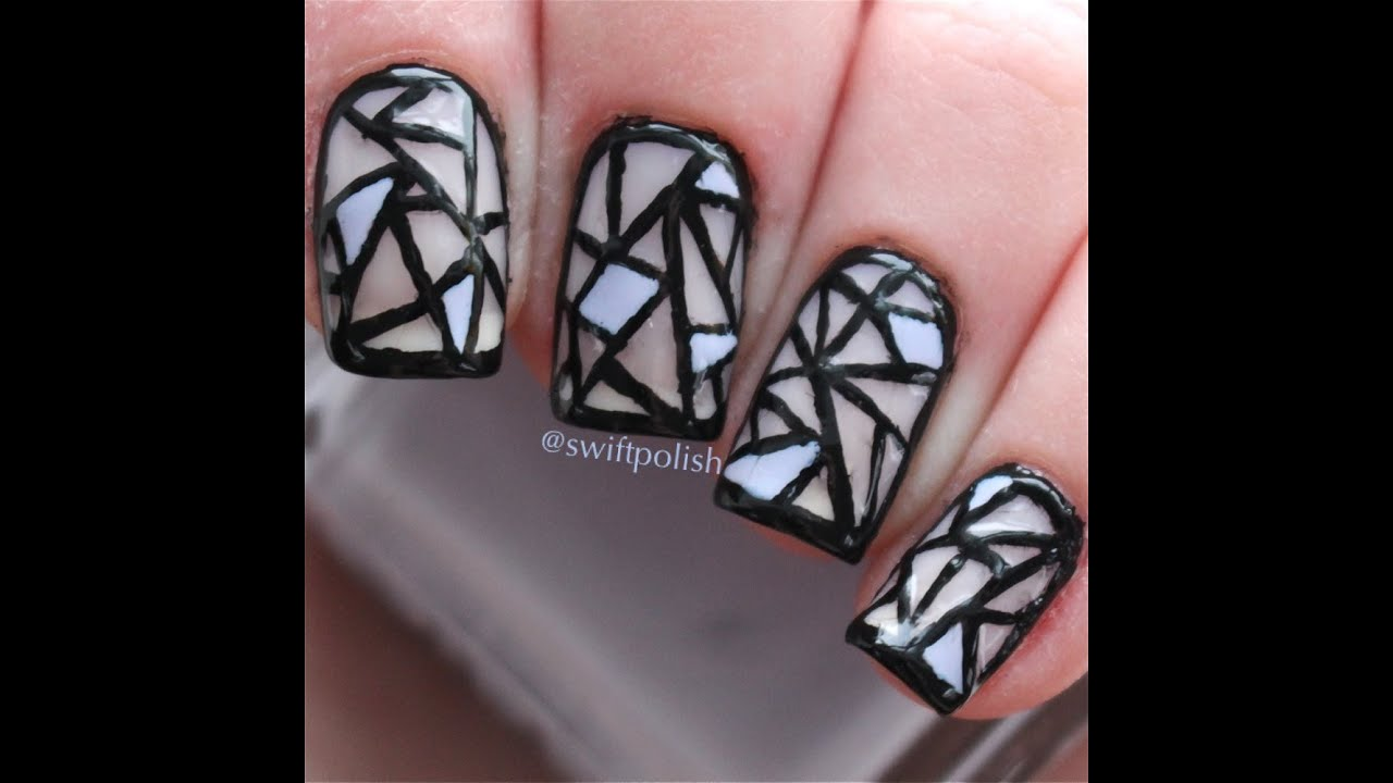 Stained Glass Nails Tutorial | Swiftpolish - YouTube