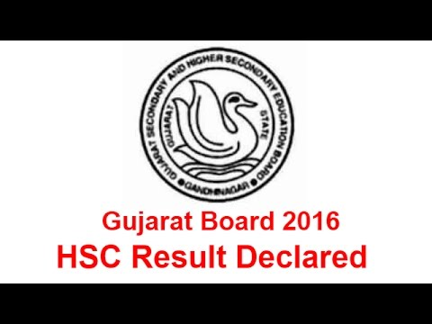 GSEB 12th Arts and Commerce Result 2016 Declared