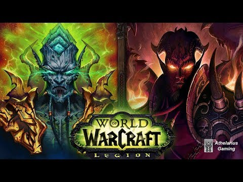 World of Warcraft: Archimonde vs Kil'jaeden [Defeat Cinematics]