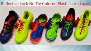 Reflective Lock No Tie Colored Elastic Lock Laces