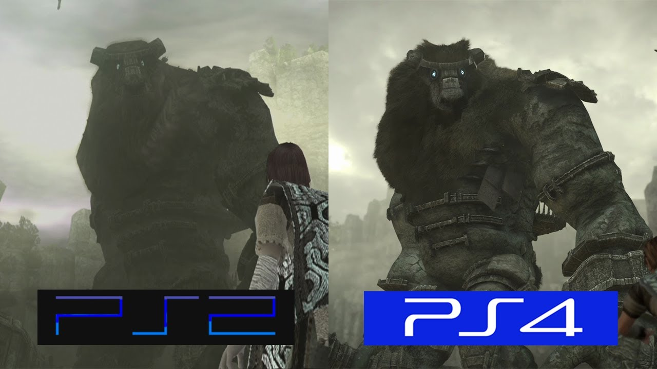 Shadow Of The Colossus | PS2 VS PS4 | GRAPHICS COMPARISON ...