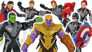 Chase the Thanos! Avengers4 End Game Hulk, Iron Man, Thor, Captain America suit! Go! #DuDuPopTOY