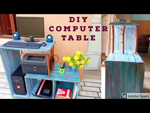 DIY Computer table | Study Desk | Project from Pallets| Rustic Wood furniture