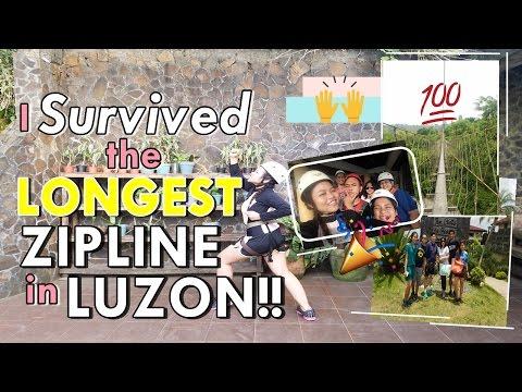 LONGEST ZIPLINE IN LUZON (Philippines)