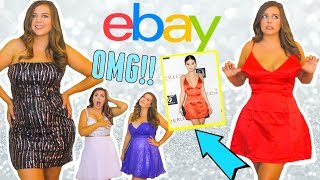 TRYING ON $10 EBAY HOMECOMING DRESSES!! WAS IT A SCAM?! CURVY GIRL HOMECOMING DRESS TRY ON PART 2!!