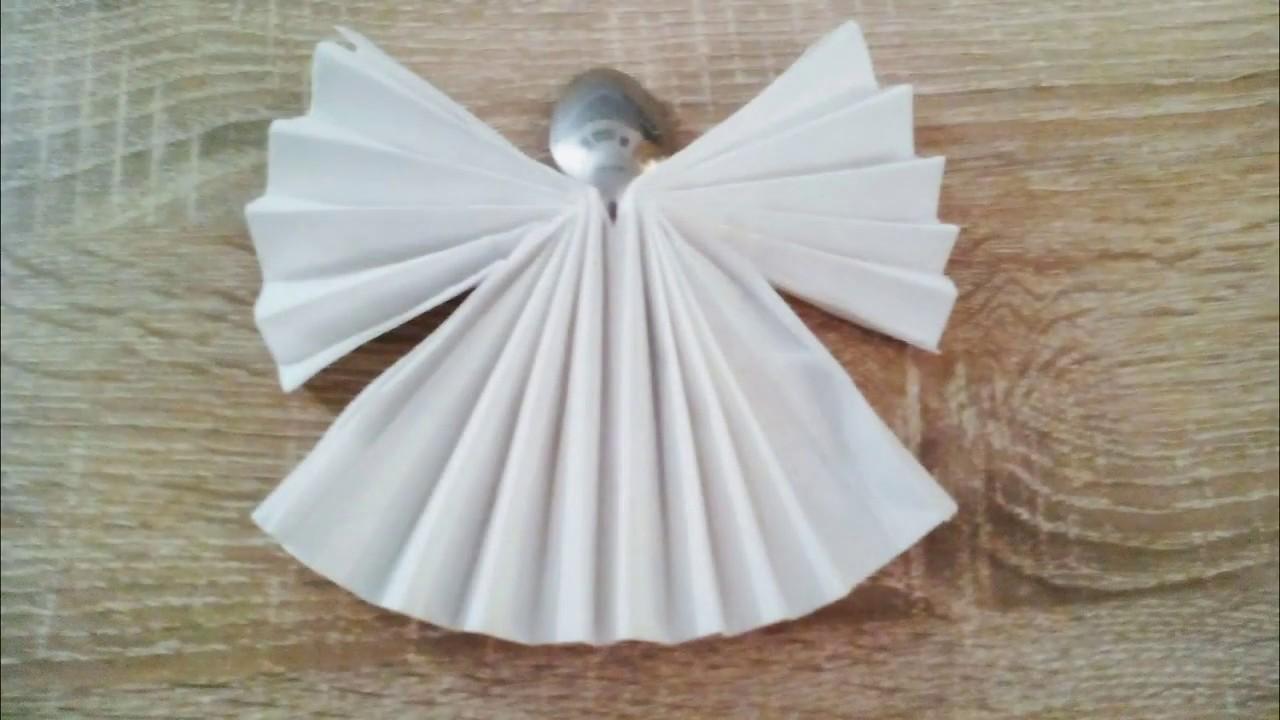 Servietten Falten Engel Napkin Folding Angel