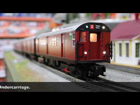 MTH O Scale MTA R-33S 4-Car Subway Set (Red Bird) With Proto Sounds