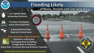 Heavy rain leads to flooding in West Michigan