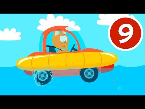 АМФИБИЯ - Котёнок и волшебный гараж - Машинка лодка которая может ездить и по суше и по воде