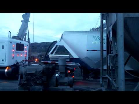 Loading cement off the barge  Part II
