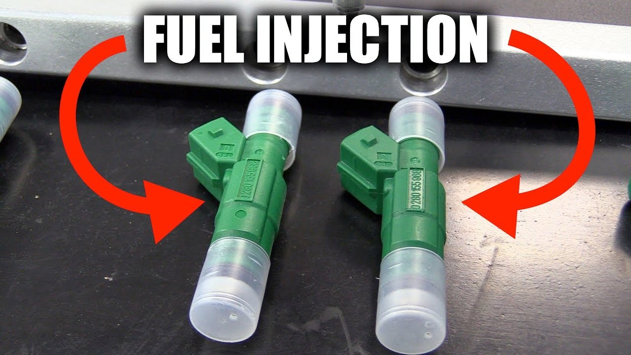 How Fuel Injection Works Direct Vs Port Injectors Youtube Injected Engine Diagram
