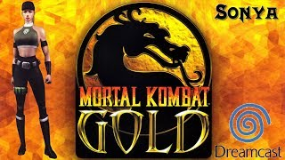 Sonya - Mortal Kombat Gold - Dreamcast Playthrough