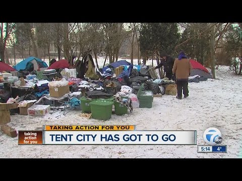 Detroit Mayor Mike Duggan says tent city has got to go