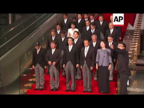 Abe introduces new Japan cabinet