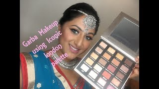 Garba Makeup using the Iconic London Palette & GIVEAWAY!!!