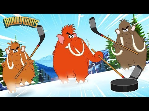 The Woolly Mammoth & More Songs for Kids | Mammoth & Dinosaur Cartoons | Prehistorica by Howdytoons