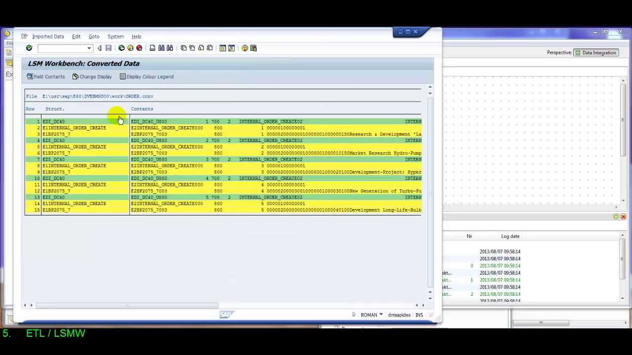 SAP LSMW With A Predefined MappingDocument YouTube - Data mapping document