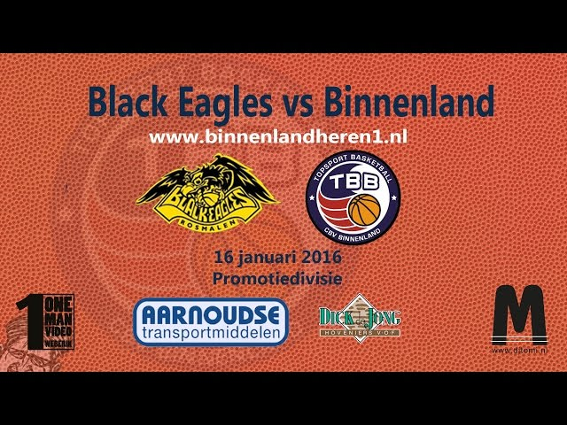 Black Eagles vs Binnenland Heren 1