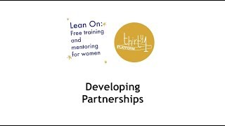 Lean On Finance - Developing Partnerships