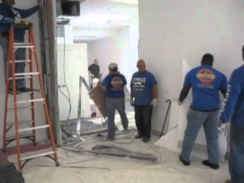 Madison Ave Nyc Interior Demolition Manhattan Contractor Removing Sheetrock Walls Studs