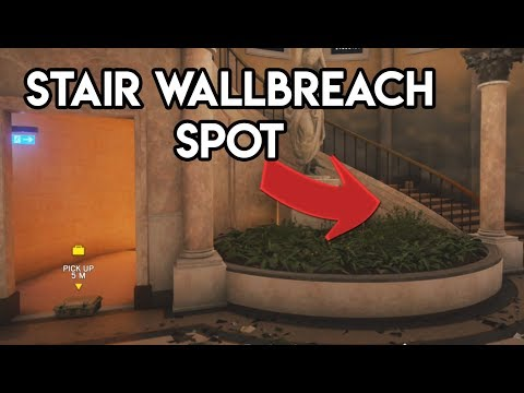 Consulate Stair Wallbreach + Drone Glitch! (Gamebreaking!) - Rainbow Six Siege